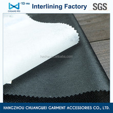 Qualified non-woven polyester garment chemical bond fusible interlining(3025) with SGS