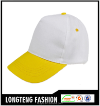 Sample free promotional two color mens baseball cap