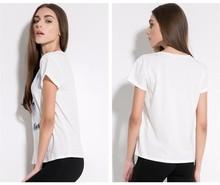 guangzhou factory women 2015 new printing short t shirt