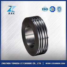 New design 140x90x15 tungsten carbide rolls for cold processing 4mm to 8.5mm smooth or ribbed steel wires made in China