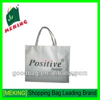 fashion design raw material non woven sublimated tote shopping bag