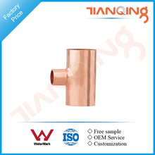 T102 Factory price pipe fitting copper reducing tee