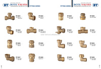 BT6002 brass elbow pipe fittings , forged fittings