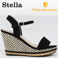 slip on topless crok lint upper high heeled sandals