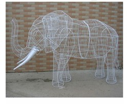 Waterpoof wire topiary artificial topiary animal big elephant