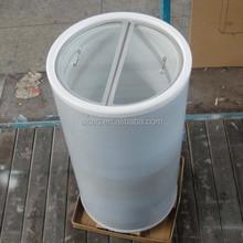 Glass Cover round barrel beverage cooler for Coca Cola