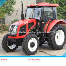 Hot Selling Basun Marca Tractor 100 CV 4WD cargadora frontal Tractor