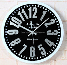Simple Fashion Design 3D Numbers Plastic Wall Clock