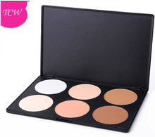 Very sunscreen cosmetic powder press with 6 color
