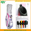 color mixing embroidery logo pink nylon stand golf bag