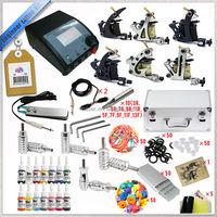 On line shop professional body art kit 6 gun tattoo machine set