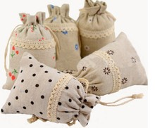 All sizes Different designs Drawable drawstring Jewelry Wedding Gift Candy storage bag pouch jute Hessian burlap bag pouch