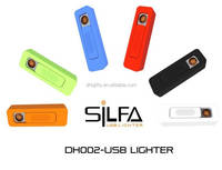 Multifunction windproof rechargeable usb lighters for cosmetic distributor