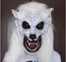 Latex material Scary halloween wolf mask