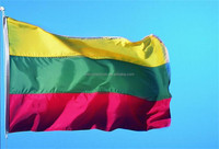 2015 Promotional Popular High Quality Cheap Custom Lithuania hand held flags