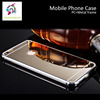 New arrive clear cellphone case with mirror back cover,Good quality metal bumper cellphone case for iPhone 6