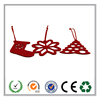 stocking ,tree and snowflake shape Christmas felt hanging decorations made in China