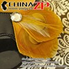 Top selling handmade feather crafts STELLA in Yellow Gold Peacock Feather Shoe Clips