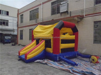Small Colorful Inflatable Bouncer Slide Combo / Inflatable Kids Bouncy Castle