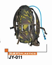 Newest army green military solar backpack with water bladder