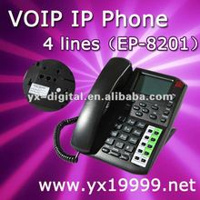free call 4 lines IP phone,voip phone internet call