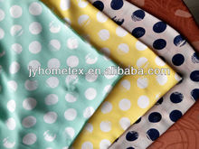 a system of dots printed thin elastic silk chiffon 100% polyester