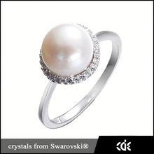 Bangkok jewelry CDE 925 silver original pearl ring 2015