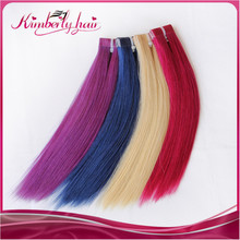 Kimberlyhair brazilian tape natural hair light purple brown blue or other ombre tone hair extension