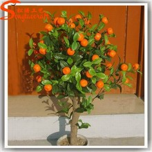 Newly hot selling home decorative tree or hotel decorative artificial orange tree