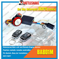 Anti-wired cut motorcycle alarm system CF801M remote starter for motorcycle