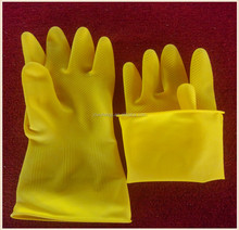 85g yellow thicken industrial labor protective latex gloves acid and alkali resistant factory direct wholesale
