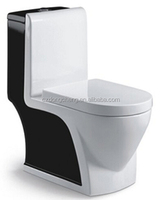 4inch Outlet One piece Ceramic wc toilet with bidet