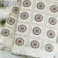 Pas cher dentelle tissu coton tinsel tissu broderie dentelle de coton tissu de rideau NP0721