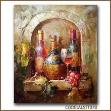 Beautiful wine glass oil painting