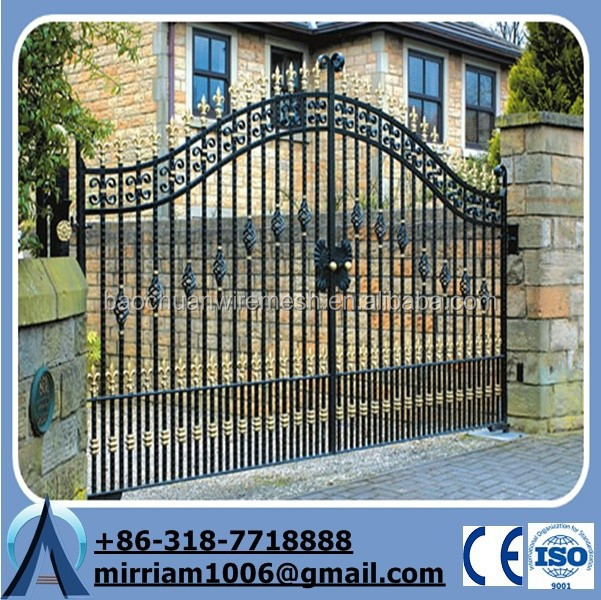 cerca de jardim ferro : cerca de jardim ferro:Segurança revestimento em pó portão de ferro forjado para jardim
