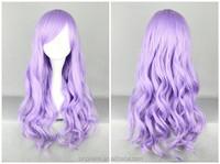 LM hair purple Cosplay Wig High quality 70CM Wave Hair Long Synthetic hair pad Perruque peluca peruca feminina