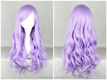 LM hair purple Cosplay Wig High quality 70CM Wave Hair Long Synthetic hair pad Perruque peluca peruca feminina