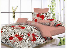 146thread count, polycotton pigment printed fabric for bedding cover and bed sheet