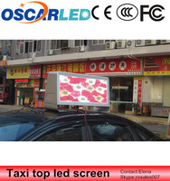 Led new products outdoor advertising P5 full color taxi car bus top roof led screen with wireless 3G system