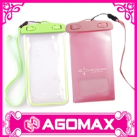 Plastic mobile bag PVC Waterproof Case for Mobile Phone