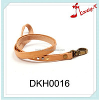 New arrival brown key holders leather strap hang around neck cheap custom leather mobile phone key chain