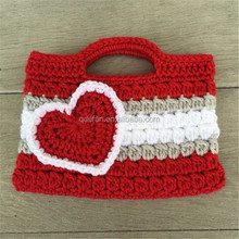hot sale knitted fashion lady hand bag