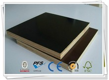 LCL black / brown film faced plywood sample for Middle East merchant Doha , Abu Dhabi carb standard approved FSC Irac COC