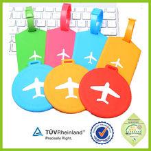 Transporte rápido avião imagem 2015 tamanho padrão etiqueta de bagagem do pvc