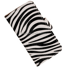 Hot product low price wallet leather Zebra phone case for iphone 6
