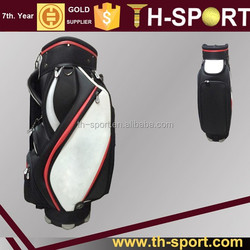 6 way divider pu leather golf staff bag wholesale