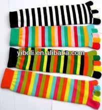 Manufacture Zhejiang Rainbow cotton socks colorful sexy toe girl socks trend brand socks