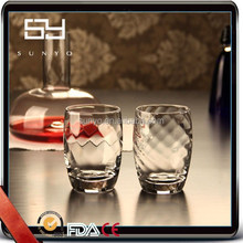 High Quality Handmade Fancy Customized Spiral Thick Drinking Glass