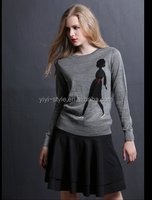 Europe and the United States of new fund of 2015 autumn winters is ms knits pullovers Long sleeve hot drill top female cartoon d