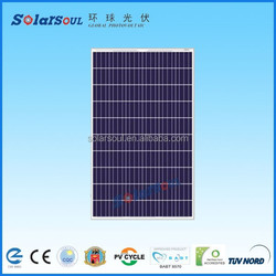 Best quality CE,MCS,CEC,IEC,TUV,ISO ,CHUBB Approval Standard poly solar system 250watt solar panel manufacturers in china